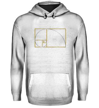 ★ Fibonacci Spiral - gold silver 2
