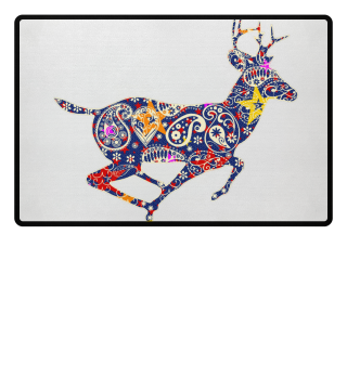Running Deer - Paisley Ornaments I