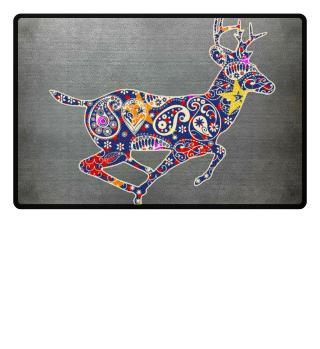 Running Deer - Paisley Ornaments I
