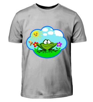 Dicker lustiger Frosch auf der Wiese