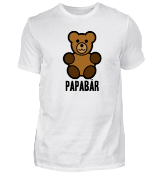 Papabär Vatertag Geschenkidee Teddy
