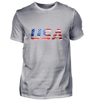 USA Flagge mit Schriftzug (0001)