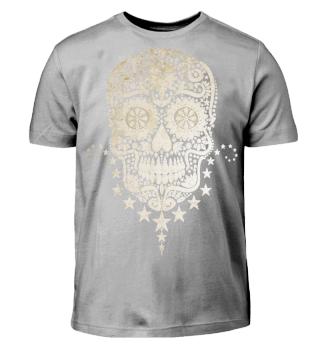 Gothic Stars Sugar Skull grunge 2 paper