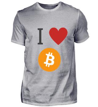 Bitcoin - I Love Bitcoin T-Shirt - BTC