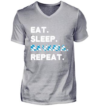 Eat Sleep Bavaria Repeat Germany German