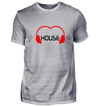 Love House Music Shirt Black