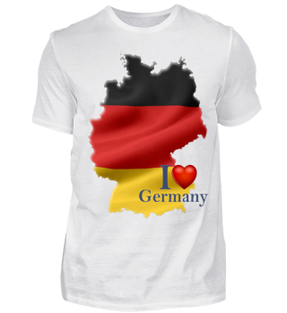 Herren Kurzarm T-Shirt I Love Germany Ramirez