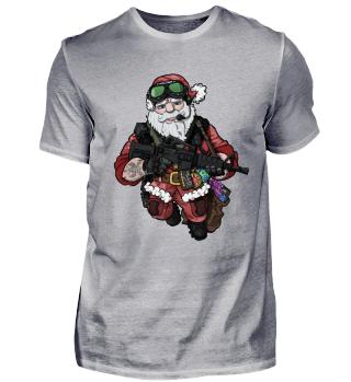 Santa Claus XMAS Tactical Weihnachtsmann Armee Shirt