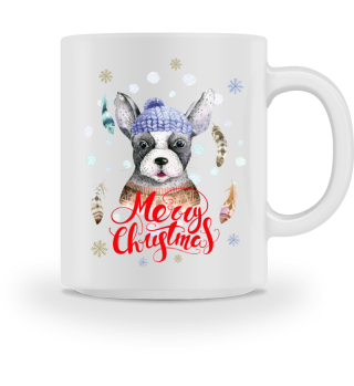 ☛ Merry Christmas · Boho Dog · Hund #7AT