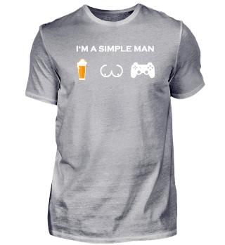 simple man like boobs bier beer titten gaming gamer