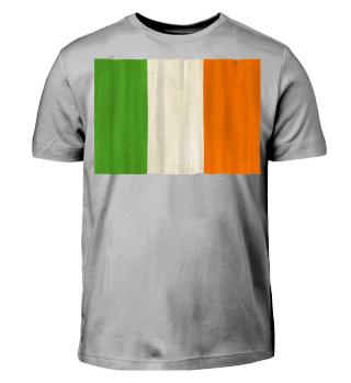 ★ National flag of Ireland - grunge I