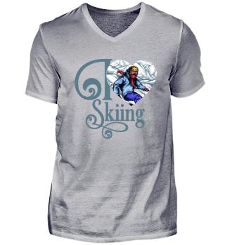 ☛ I LOVE SKIING #1BG