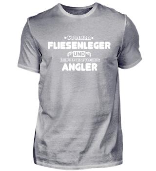 Fliesenleger T-Shirt und Angler