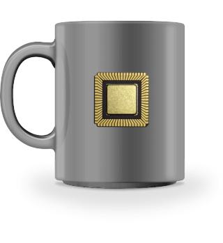 Tasse Gold Chip / Prozessor / CPU