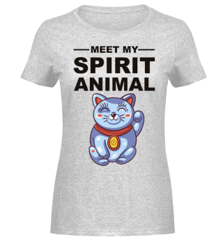 Meet Spirit Animal - Maneki-neko - black