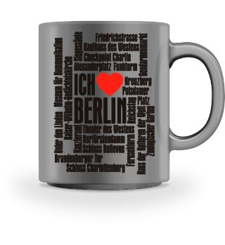 ♥ Ich Liebe BERLIN - schwarz