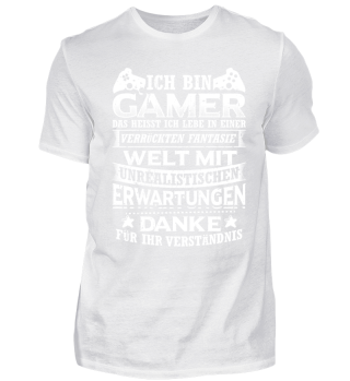 Gamer Gaming Shirt Ich Bin Gamer