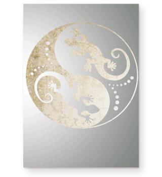♥ Yin Yang Geckos - Old Paper