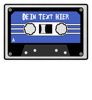 MIXTAPE blau - DEIN TEXT 1