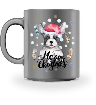 ☛ Merry Christmas · Boho Dog · Tasse