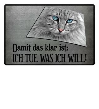 Katze - I Tue Was Ich Will - schwarz