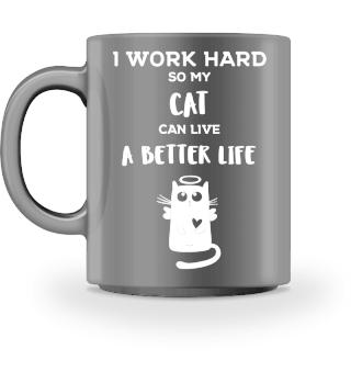 Funny Mug Cat Gift Cats Love Kitty Katze