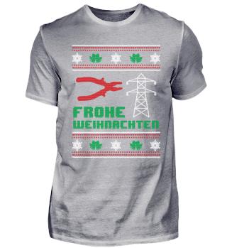 Lustiges Elektriker Shirt Weihnachten