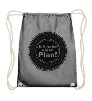 Ich habe einen Plan - Button schwarz
