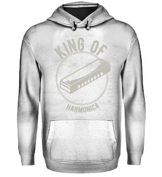 Shirt gift king of harmonica