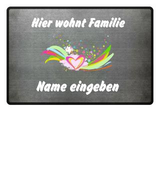 Personalisierbare Fußmatte für Namen