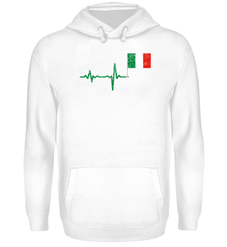 Heartbeat Italy flag gift
