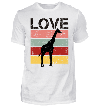 Stripes - LOVE - Giraffe - black