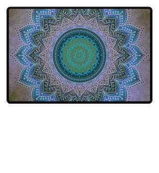 ♥ Folklore Lotus Mandala Blue Violet