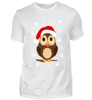 Weihnachts Eule Santa Owl T-Shirt