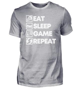 Eat Sleep Game Repeat - Gamer Gift