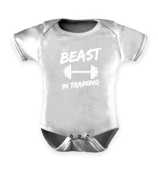 Beast in Training Fitness Sohn Geschenk