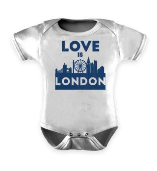 Love Is London - Geschenkidee - Gift Idea - Great Britain - England - Sight Seeing City Trip - Städtereise - Auslandsjahr - Au Pair - Reiselust - Tourist - Tourismus - Skyline - Big Ben - Kensington Palace - Buckingham Palace, London Eye - Union Jack