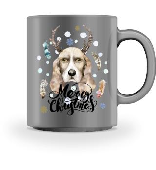 ☛ Merry Christmas · Boho Dog #3BT