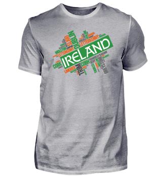 Ireland Irland Wordcloud Geschenk