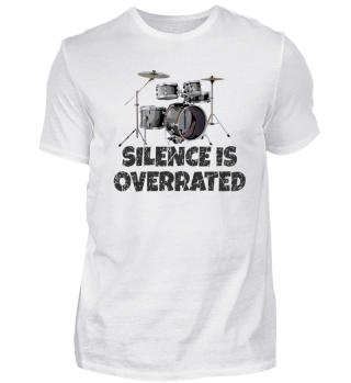 Silence is Overrated Drum Kit T-Shirt