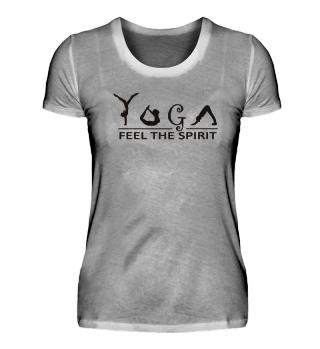 Yogo shirt feel the spirit Geschenk