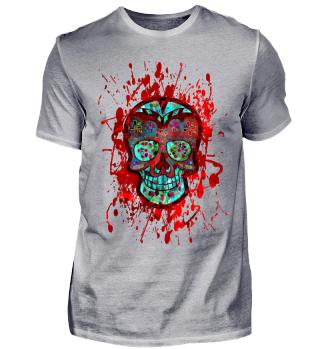 Funny Mexican Sugar Skull bunt grunge