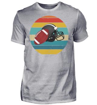 American Football - Retro Ball & Helm