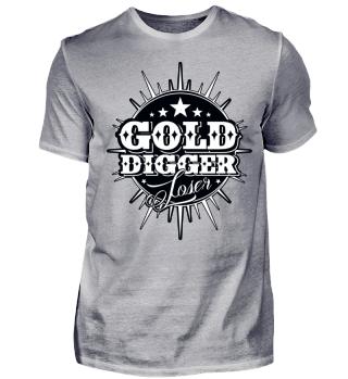 Herren Kurzarm T-Shirt Gold Digger BW Ramirez
