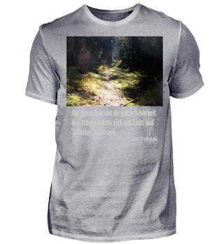 Kollektion Waldweg Licht Schatten Schönheit des Lebens Tolstoi