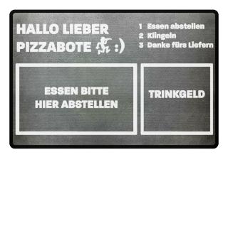 Pizzabote Fußmatte
