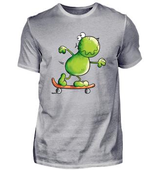 Frosch mit Skateboard