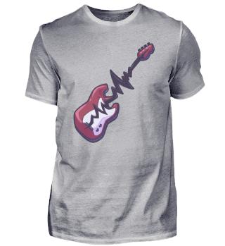 Gitarre Herzschlag Heavy Metal Musik