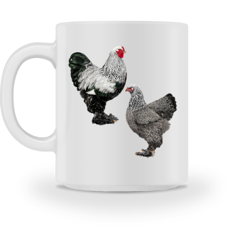 Brahma dark silberfarbig Becher/mug