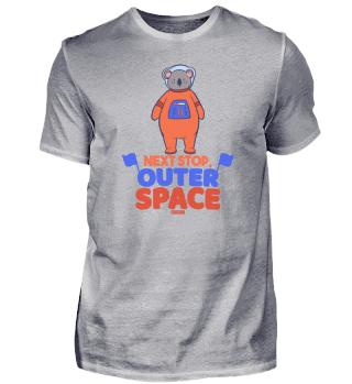 Koala as astronaut in space